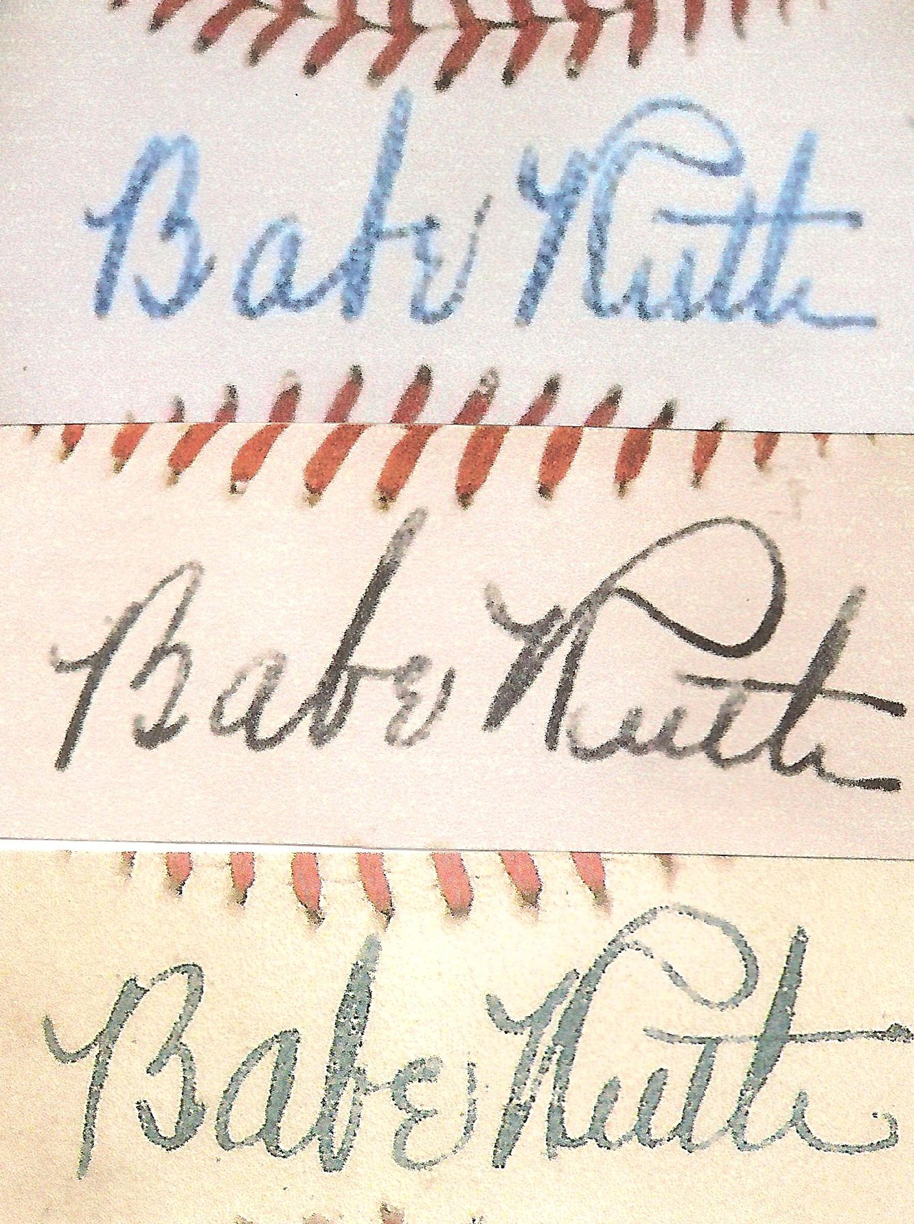 hauls of shame breaking news three of the record breaking babe ruth balls top 300 000 private middle 87 000 heritage bottom 76 020 robert edward auctions rea