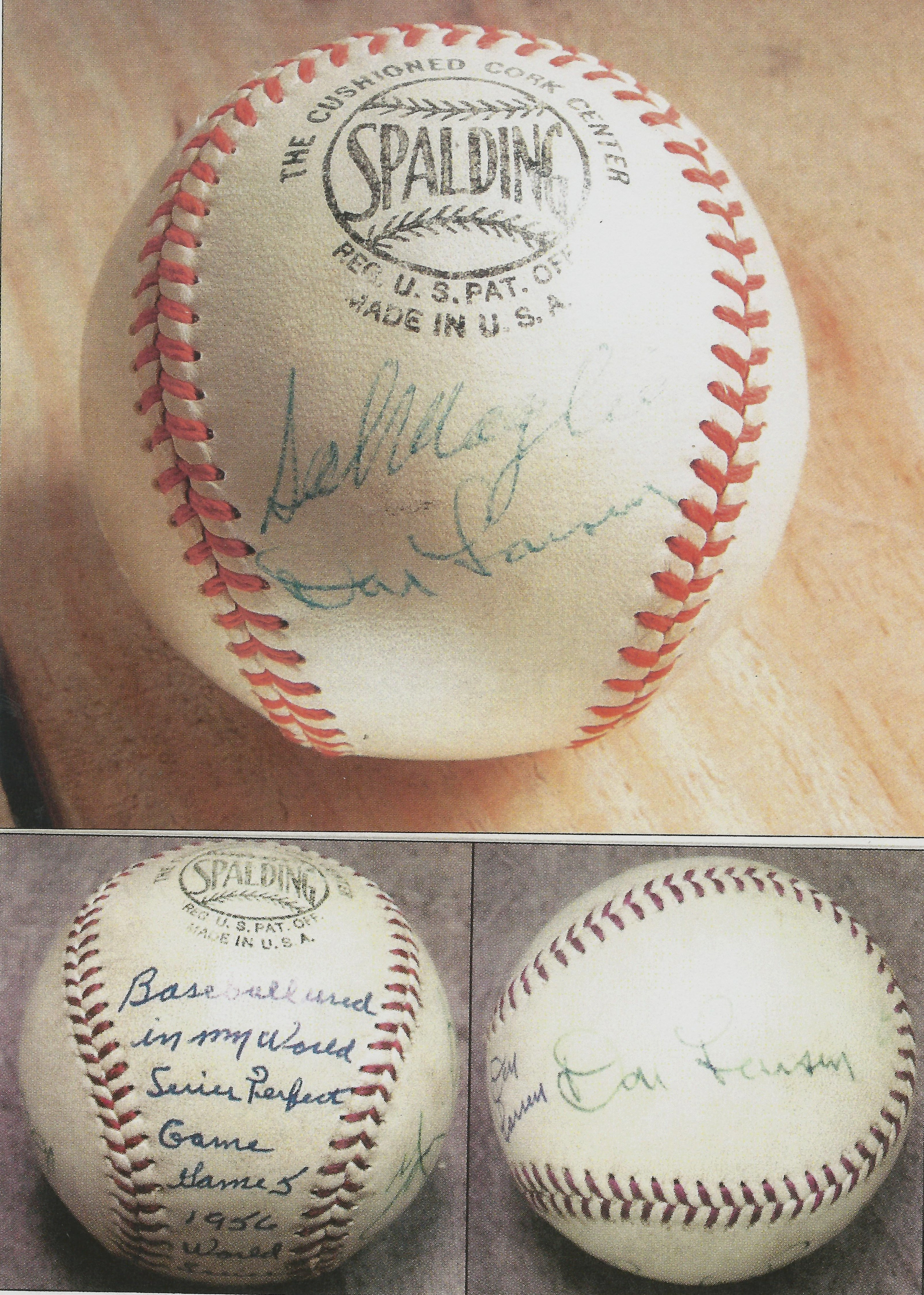 dfb0d10f23e Don Larsen signed these two National League balls for the ...